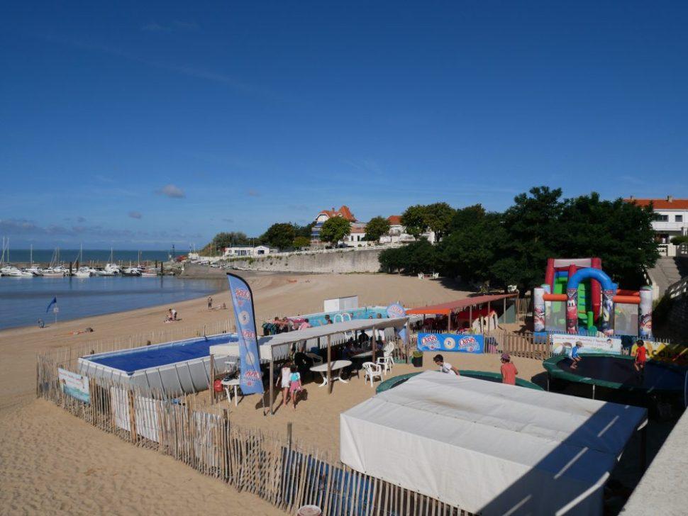 Fouras les bains en Charente Maritime, pour vacances en famille au bord de l'océan. Club de jeux pour enfants